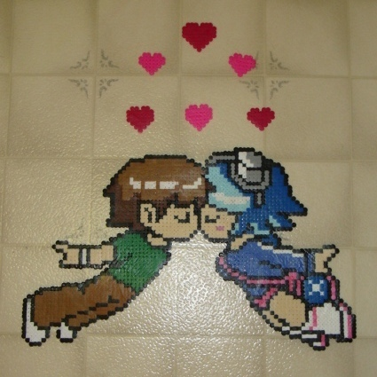 Scott Pilgrim Perler bead art - scott-pilgrim-vs-the-world Fan Art