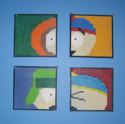South Park Bead art sa pamamagitan ng Pixelated Production