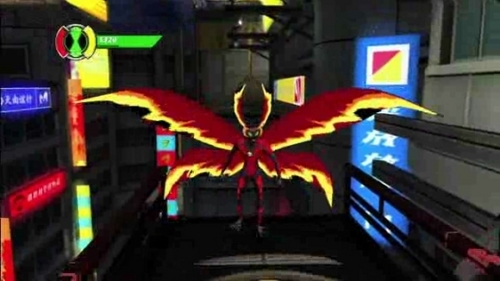 Ben 10: Ultimate Alien achtergrond possibly containing a stained glass window and a lychgate titled Ultimate Big Chill