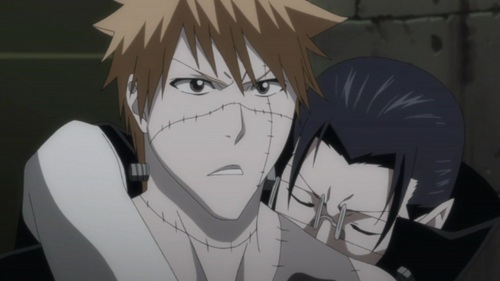 Uryu and Ichigo
