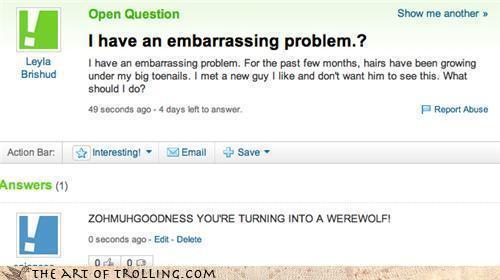 Yahoo các câu trả lời Fail