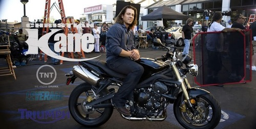 Christian Kane wallpaper probably with a motorcycle cop, a motorcycle, and a motorcyclist entitled christian kane