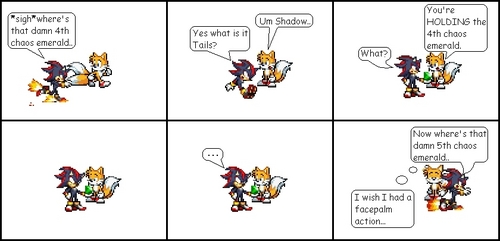 tails wishes he had a faceplam action