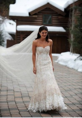 Jared Padalecki & Genevieve Cortese wallpaper with a gown and a bridal gown entitled wedding