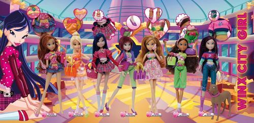 Winx dolls پیپر وال titled winx