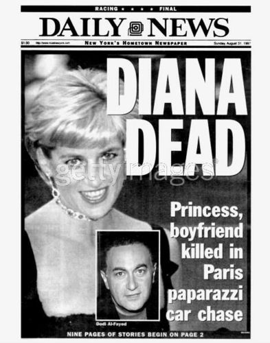 Newspapers Diana Death
