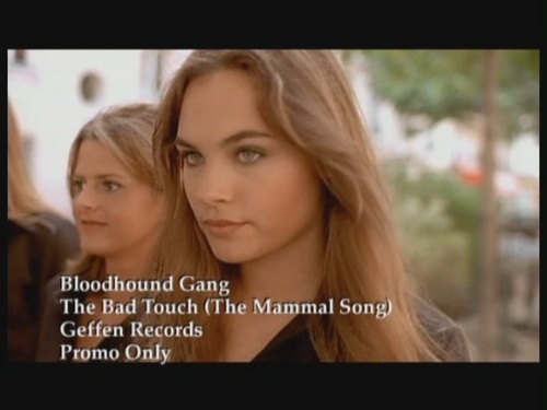 Bloodhound Gang achtergrond containing a portrait entitled 'The Bad Touch'