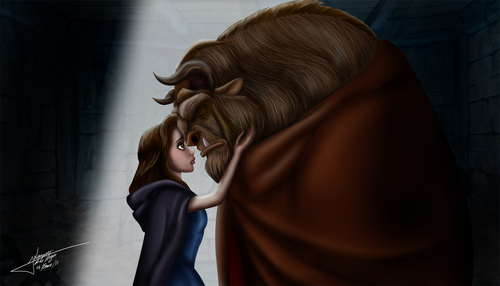 "Belle wallpaper titled ""You're Not Alone"""