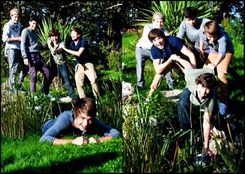 1D = Heartthrobs (During 사진 Shoot) I Can't Help Falling In 사랑 Wiv U 100% Real :) x