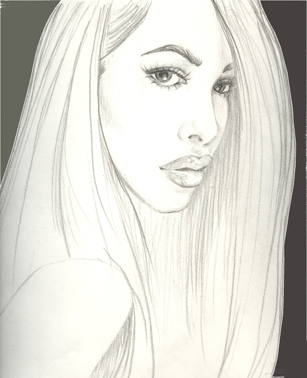 Black And White Sketches Art http://www.fanpop.com/clubs/aaliyah/images/18516644/title