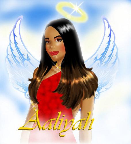 Aaliyah as an Angel
