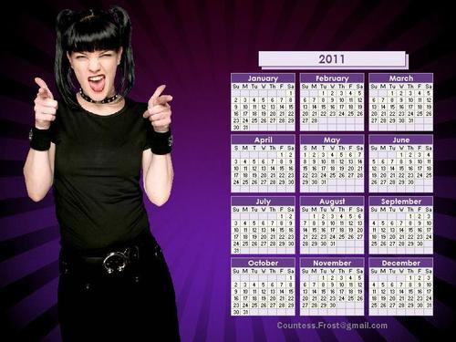 Abby Sciuto wallpaper possibly containing a card index, a sign, and a holding cell titled Abby Sciuto - 2011 calendar