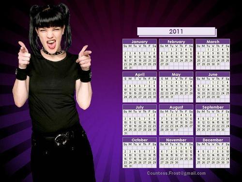 Abby Sciuto - 2011 calendar