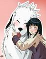 Akamaru and Hinata