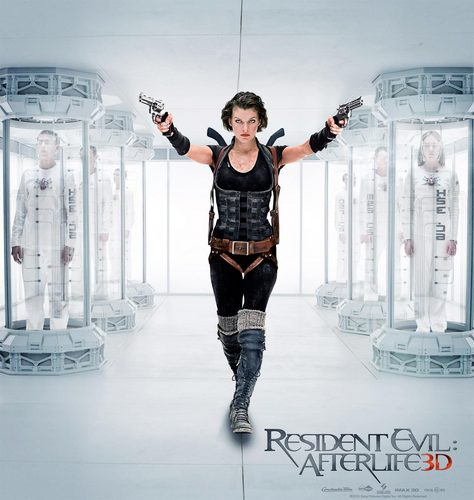 "Resident Evil Movie wallpaper probably with a leotard, tights, and a legging entitled Alice finds ""Arcadia"""