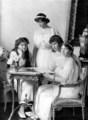 Anastasia Romanov with her sisters