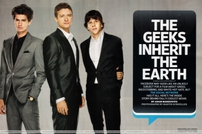 Andrew, Justin, and Jesse for Entertainment Weekly -October 8th 2010