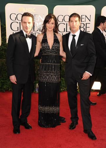 Andrew Lincoln, Sarah Wayne Callies & Jon Bernthal @ Golden Globes