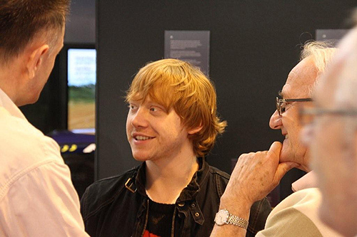 Rupert Grint wallpaper possibly with a sign entitled Autosport International