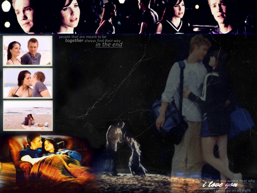 Brucas wallpaper with anime called BL love<3