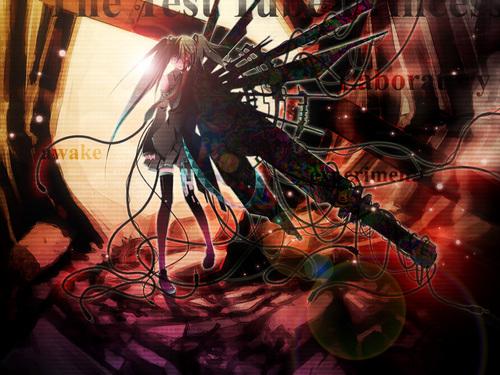 Black★Rock Shooter 壁纸 titled BRS
