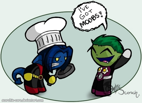 Beast Boy and Nightcrawler!