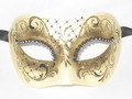 Black Colombina Ilary Venetian Mask