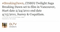 Breaking Dawn Filming News: Filming Information For Vancouver! - twilight-series photo