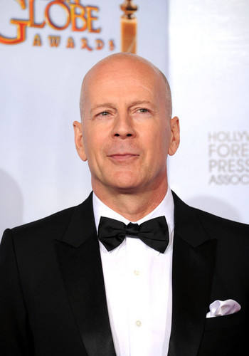 Bruce Willis in the 2011 Golden Globes Press Room