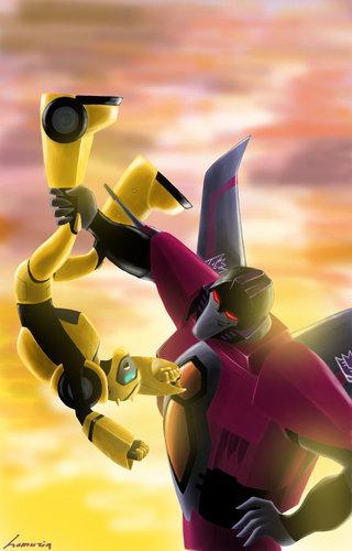 Bumblebee and Starscream