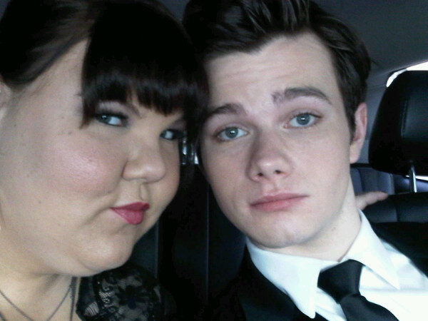 Chris and Ashley on the way to the Golden Globes
