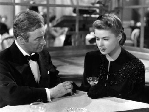 Claude Rains and Ingrid Bergman [Notorious]