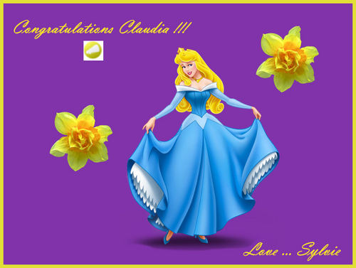 Princess Aurora fondo de pantalla probably with a bouquet entitled Congratulations !!!!!! :)))
