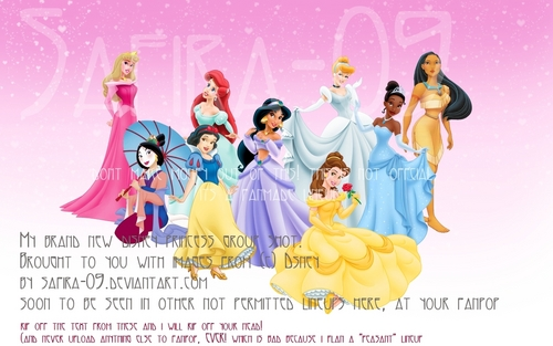 D Princess Group Shot ( without Rapunzel)
