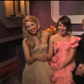 Backstage Golden Globes - lea-michele-and-dianna-agron photo