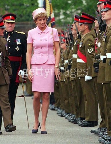 Diana Inspects Troops