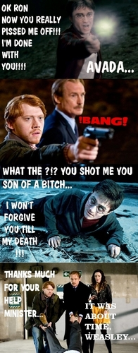 Don't mess with Ron Weasley :D