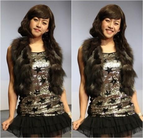 Dongho dressed up like a Girl
