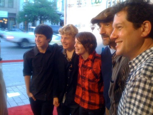 Dylan, Jimmy, Kodi,Matt Reeves, Elias and Michael at Fantastic Fest.