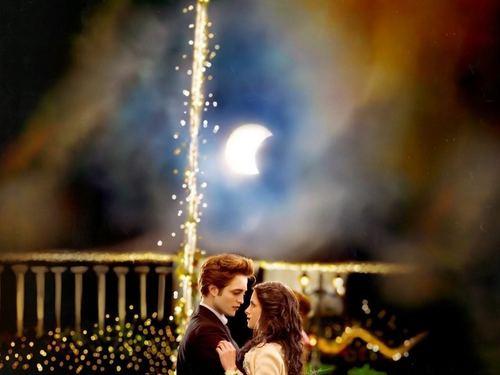 Edward and Bella kertas dinding