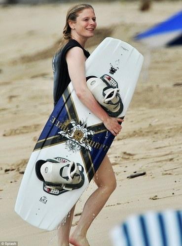 Merlin on BBC wallpaper titled Emilia Fox Wakeboarding