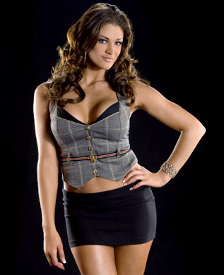 WWE Divas achtergrond probably containing a bustier, hot pants, and hotpants called Eve Torres