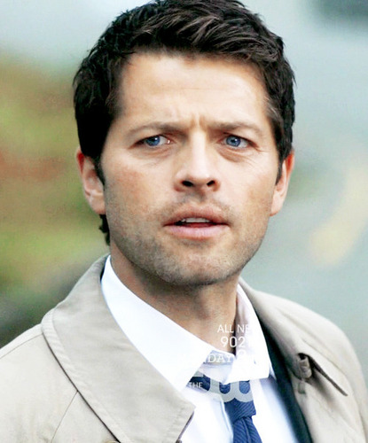 Castiel wallpaper possibly with a business suit and dress blues called Fan art