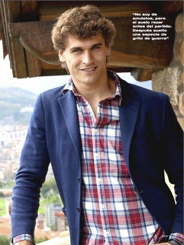 "Fernando Llorente wallpaper probably containing a business suit called Fernando Llorente for ""Telva"" Magazine (February 2011)"