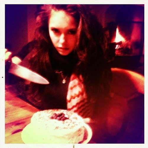 From Nina's twitter: Katherine...Baked. A bloody RED velvet cake ;)