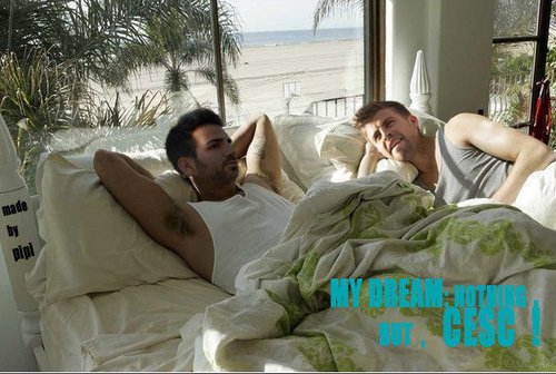 Geri and Cesc in a common bed!