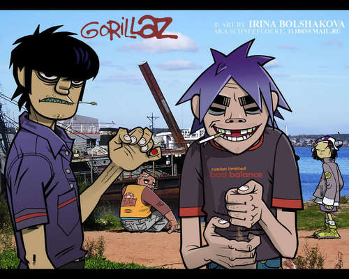 Gorillaz at the pantai