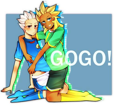 Goshu Flame and Gouenji Shuuya