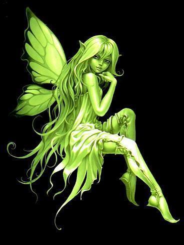 Absinthe वॉलपेपर entitled Green एंजल Fairy