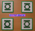 Green Lantern Coasters by Pixelated Production